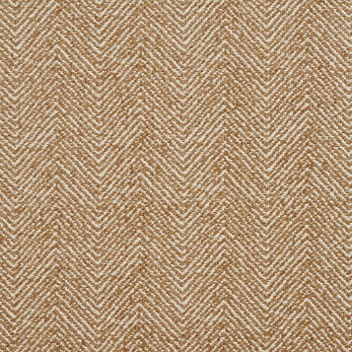 (E735 Camel Herringbone Woven Textured Upholstery Fabric by The Yard)