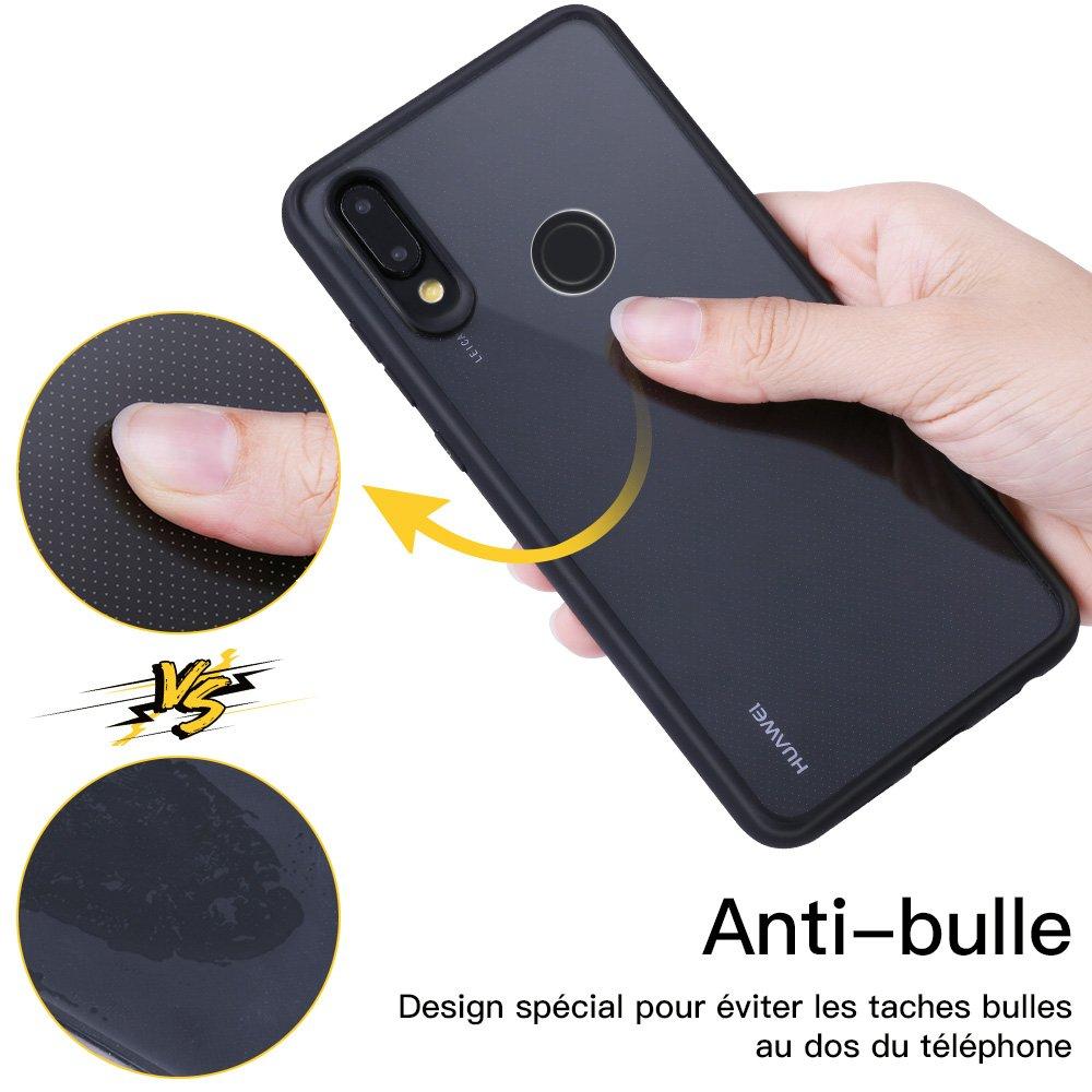 JASBON Coque Huawei P20 lite Coque Transparente Housse Ultra fine Étui Anti-rayure Protection Case pour Huawei P20 lite – Noir