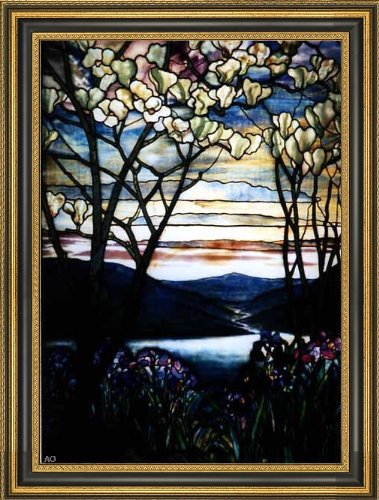 Art Oyster Louis Comfort Tiffany Magnolias and Irises - 18.05