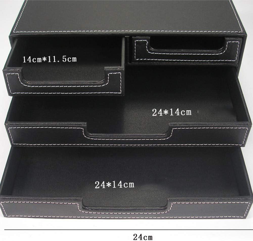 4 Schubladen Dateien Sorter Cabinet Dokumentenhalter am Arbeitsplatz Desktop Storage Box f/ür Briefpapier A4 Papier//Magazin B/üro-Schreibtisch-Versorgung WJYLM Organizer Leder Brief Tabletts
