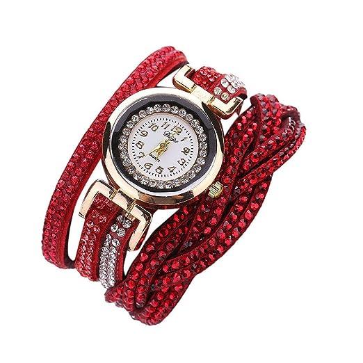Reloj de Oro Mujer,Women Luxury Crystal Women Gold Bracelet Quartz ...