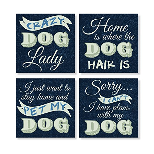 - Carson Crazy Dog Lady Humorous 4 x 4 Inch Tabletop Coasters Gift Boxed multicolored Set of 4
