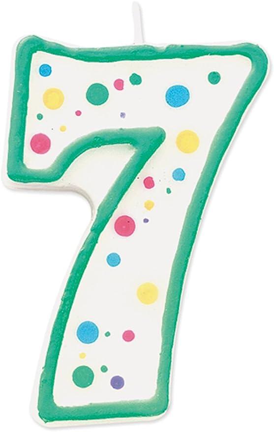 Wilton Vela Numeral 3 Verde
