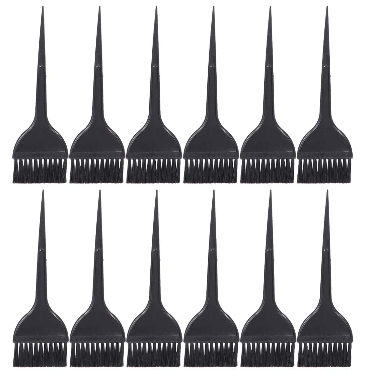 Pixnor 12 Pack Hair Dye Brushes, Highlight Brush Handle Hair Coloring Dyeing Kit Color Tint Applicator for Salon Black : Beauty
