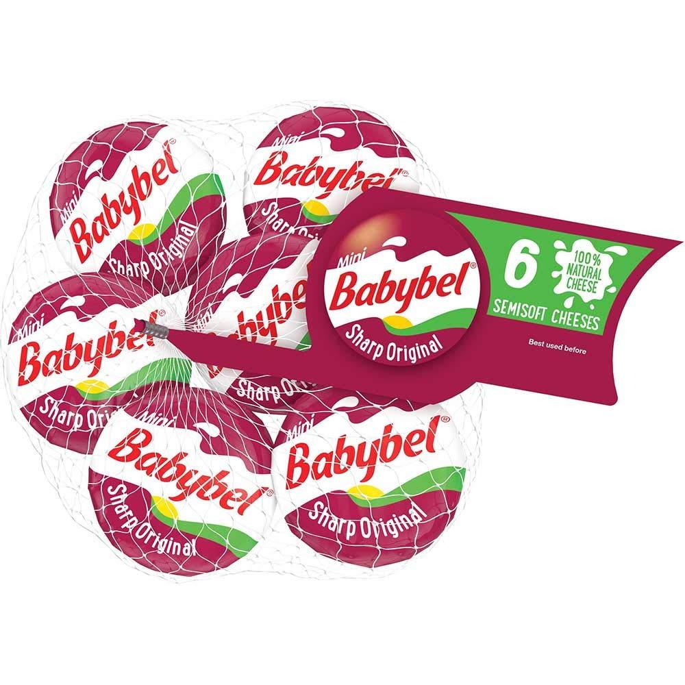 Mini BabyBel Cheese Sharp Original, 4.2 Ounce (Pack of 12)