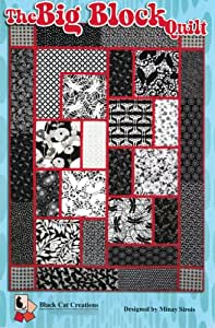 The Big Block Quilt Quilt Pattern, For Large and Scenic Prints, 53 Inche by 71 Inch Finished Size