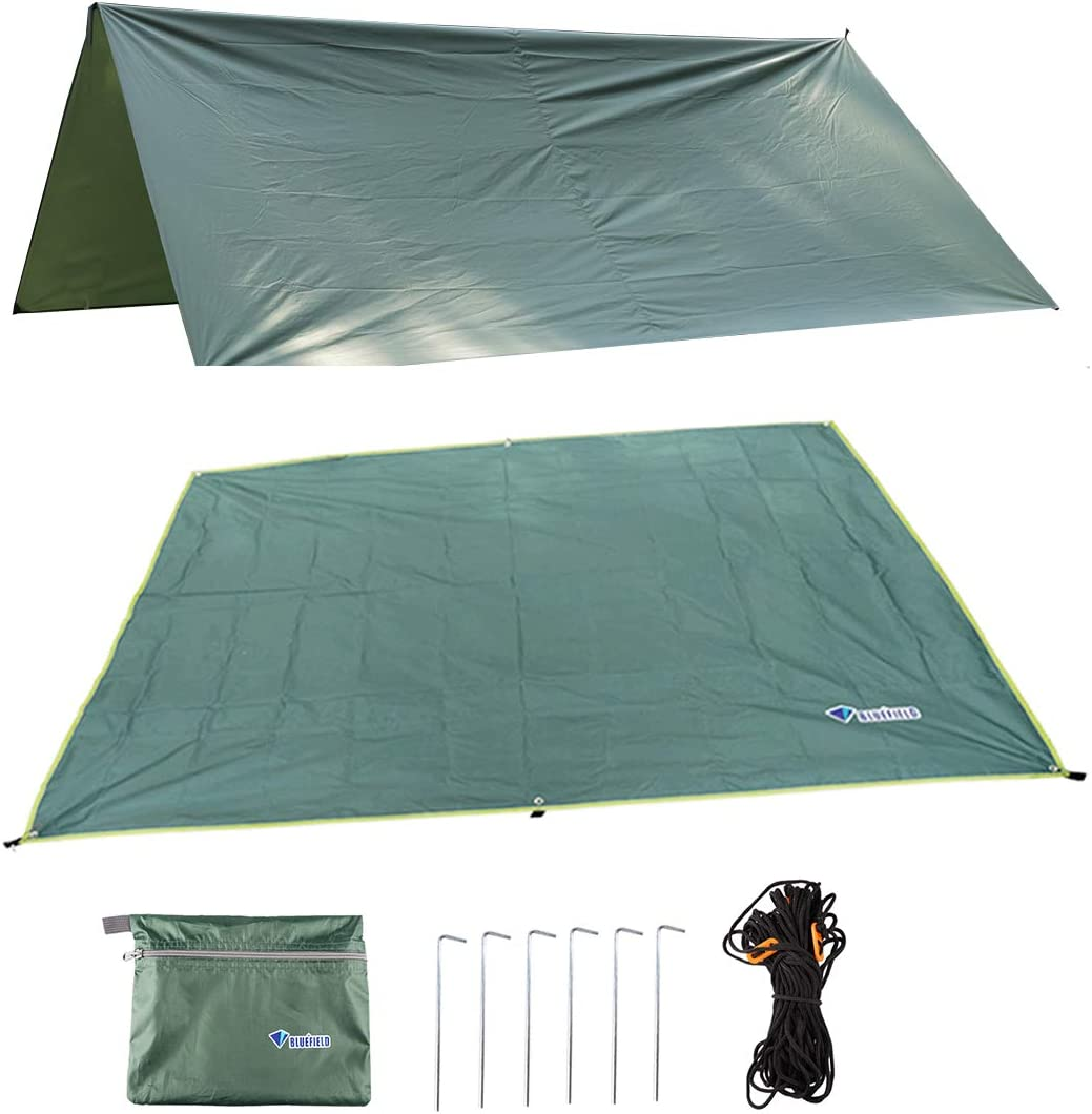 Magarrow Travel Footprint Tent Tarp Camping Accessories Polyester Cover stakes Included Camping Picnic Climbing Accessories