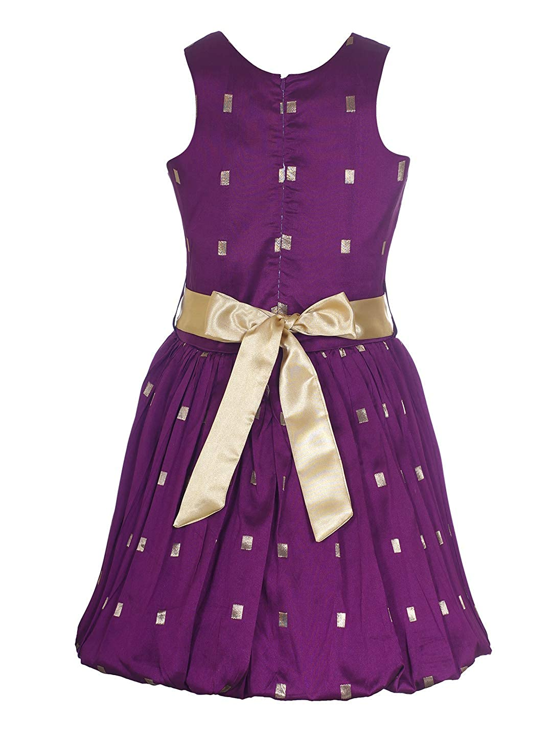 ddad9d1a Naughty Ninos Girls Purple Embroidered Flaired Dress for 3 to 12 Years:  Amazon.in: Clothing & Accessories
