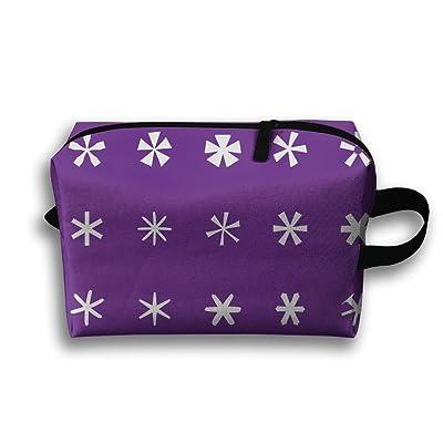 Travel Bag Hexagonal Pattern Cosmetic Bags Brush Pouch Portable Makeup Bag Zipper Wallet Hangbag Pen Organizer Carry Case Wristlet Holder