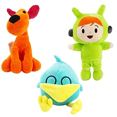 3pcs Pocoyo Plush 5.5-11.5in Loula Sleepy bird Nina Stuffed Animals Soft Figure Anime Collection Toy (3pcs): Office Products