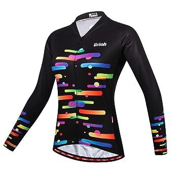 Amazon.com: Uriah - Camiseta de ciclismo para mujer (manga ...