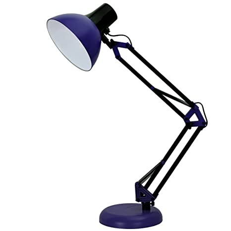 Tojane blue desk lamp adjustable swing arm small desk lamp for tojane blue desk lamp adjustable swing arm small desk lamp for bedrooms flexible clamp aloadofball Images
