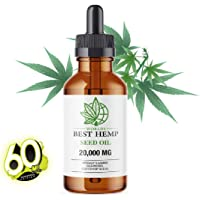 Worlds Best Hemp Seed Oil (2OZ / 60 ML) - 20,000MG Premium Formula for Pain Relief, Anxiety, Depression & Stress. Anti-Inflammatory Omega 3/6 – Organic & Non GMO. 60 Servings of 333 mg per Bottle (20,000MG)