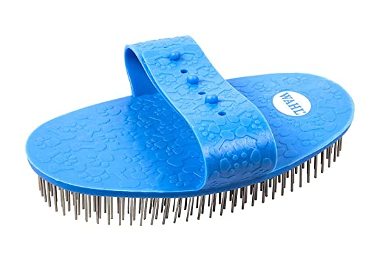 79ed84201577 WAHL Pet Grooming Rubber Palm Pad Pin Brush