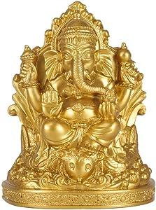 Seyee-bro Elephant Buddha Ganesh Sculpture - Lord Ganesha Idol Statue -Hindu Home Mandir Diwali Decoration