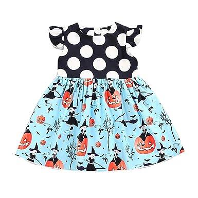 d6ea30b835e5 Girls Dresses, SHOBDW Toddler Kids Baby Girls Fashion Halloween Pumpkin  Cartoon Princess Outfits Clothes Dress: Amazon.co.uk: Clothing