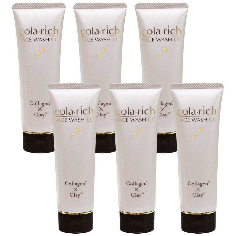 コラリッチ コラーゲン配合美容液洗顔6本まとめ買い/フェイスウォッシュCC(1本120g 約1カ月分)キューサイ B078RKM5R5