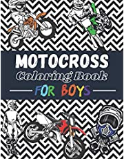 Motocross Coloring book for boys: Over 30 coloring pages to color and enjoy… | Dirtbike & Motorcycle for kids aged 6 – 14