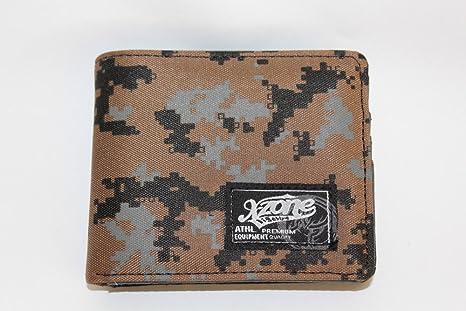 DonRegaloWeb - Cartera billetera americana de hombre juvenil marrón dibujo militar