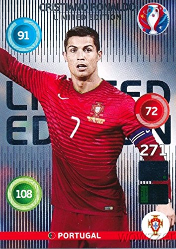 (2016 Panini Adrenalyn UEFA EURO France EXCLUSIVE Cristiano Ronaldo Limited Edition MINT! Rare Card Imported from Europe! Shipped in Ultra Pro Snap Card Holder to Protect it!)