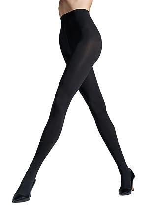 edb8df3ae5 Gatta SATTI MATTI Women's Ultra Opaque Satin Soft Tights in Black, Dark  Grey and Burgundy