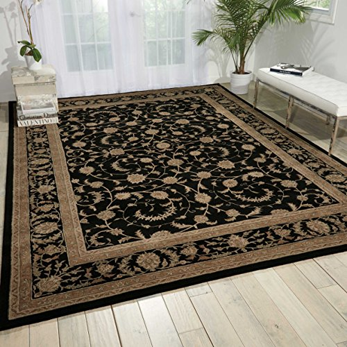 Nourison Heritage Hall (HE29) Black Rectangle Area Rug, 2-Feet 6-Inches by 4-Feet 2-Inches (2'6