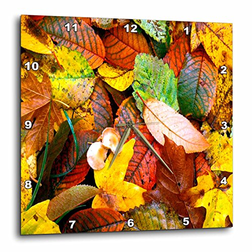 Fall Leaves Wall Clock - fall wall art decor - autumn decor