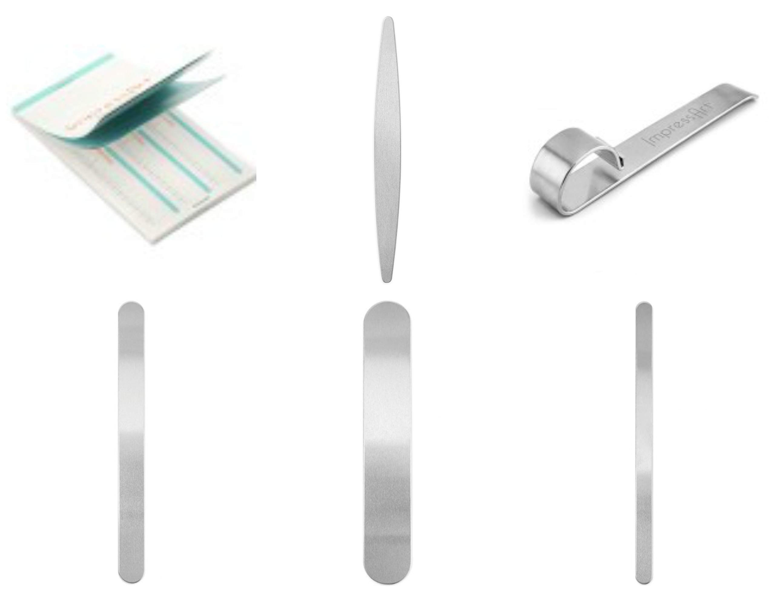 16 Impressart Bracelet Blanks Plus Bending Bar Plus Bracelet Stamping Guide, Free Priority Mail Shipping!-Impress Art Bracelet Stamping Kit, Great Gift! by ImpressArt