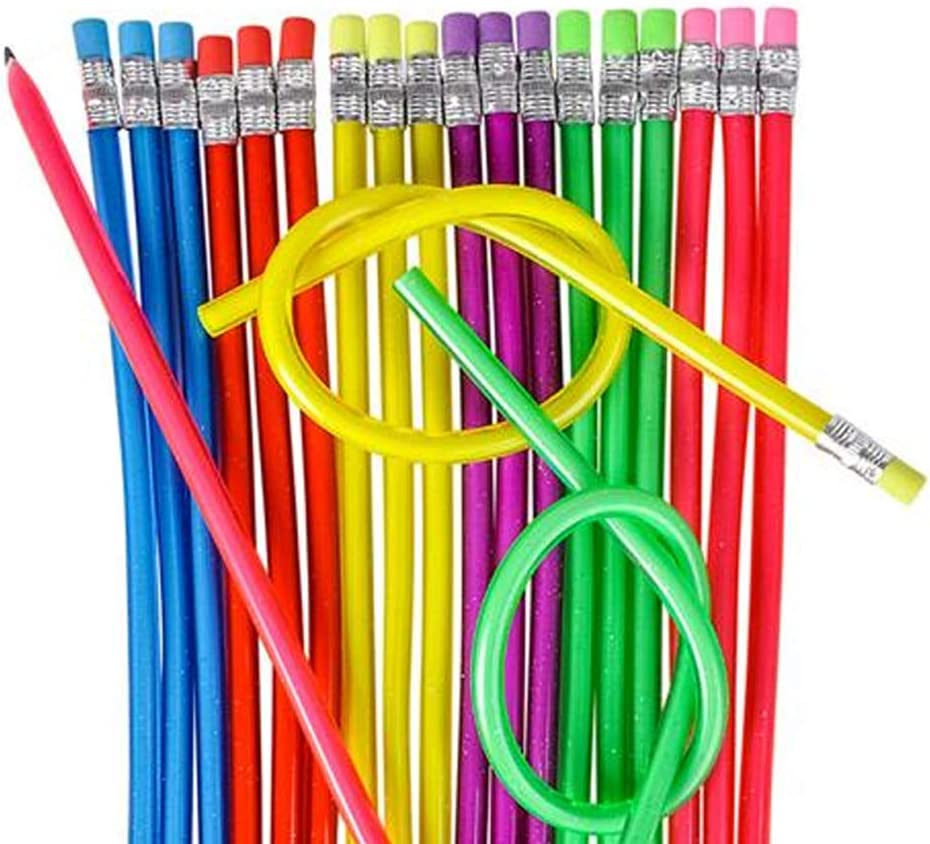 ArtCreativity 13 Inch Flexible Bendy Pencils for Kids - 12 Pack - Fun and Functional Long Bendable Writing Pencils - Birthday Party Favor, Goodie Bag Fillers, Classroom Gifts, Back to School Supplies: Office Products