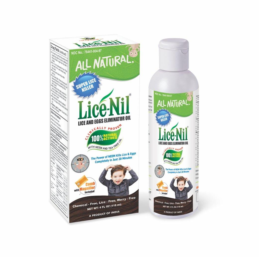 Lice-Nil Lice and Eggs Eliminator Oil, 4 Ounce