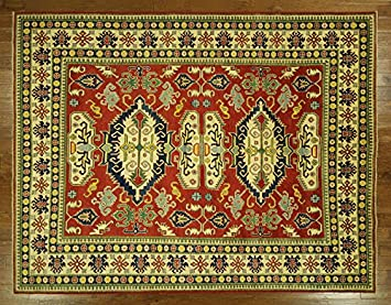 Amazon Com Bh Sun H6831 Unique Oriental 9 X 11 Hand Knotted Red
