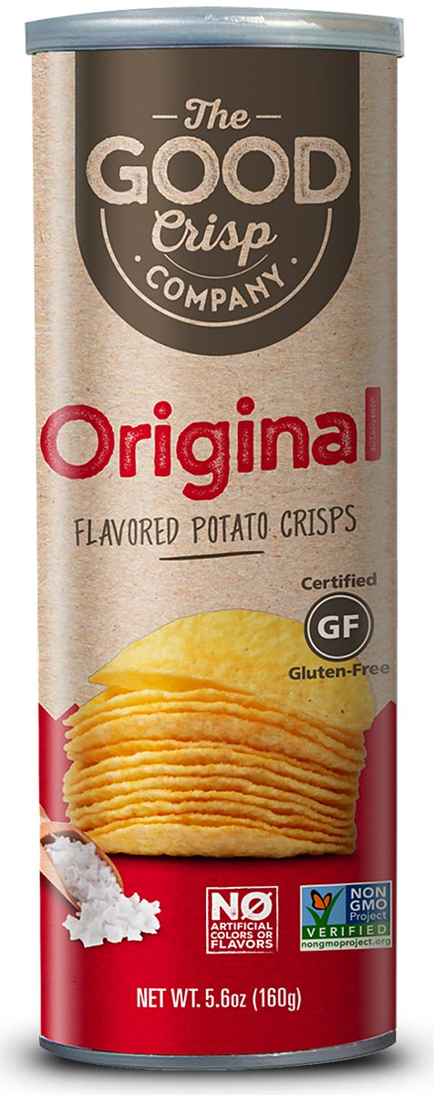 The Good Crisp Company, Original Gluten Free Potato Chips (5.6oz, Pack of 8), Non-GMO, Allergen Friendly, Stacked Potato Chips by The Good Crisp Company