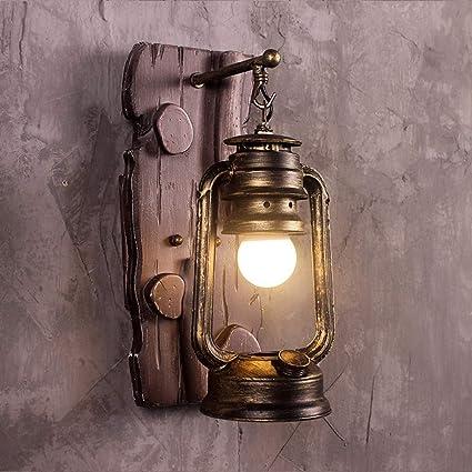 AXWT 2 Paquetes Retro Lámpara de Pared Industria Loft Personalidad Creativa Restaurante Bar Lámpara American Iron