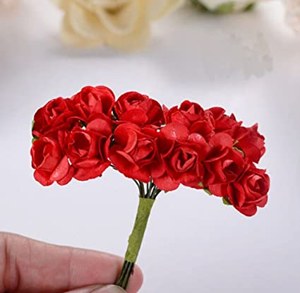 144pc stems mini rose paper flower creative mini rose bulk paper 144pc stems mini rose paper flower creative mini rose bulk paper flowers wedding handicrafts red mightylinksfo