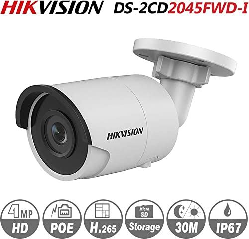 Hikvision 4MP Bullet Camera DS-2CD2045FWD-I 4mm IR Mini Indoor Outdoor Network Camera ONVIF H.264 English Version Support Upgrade