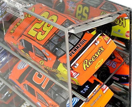 NASCAR Display Case 21 car Angled Shelf fits Diecast 1/24 Action 1:24 Scale