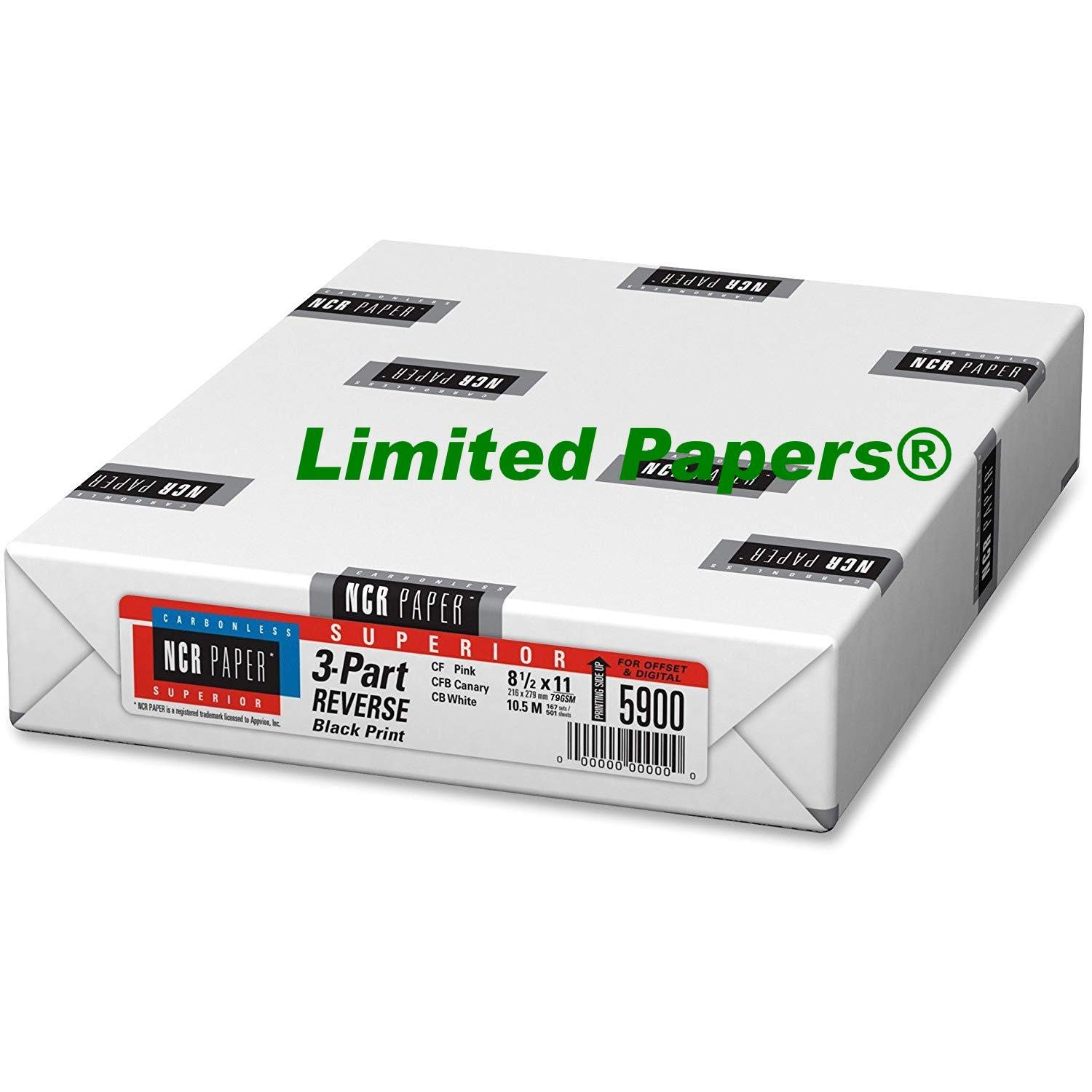 Limited Papers (TM) Appvion 5900 Reverse 3-Part Paper, 8-1/2''x11'' (10)