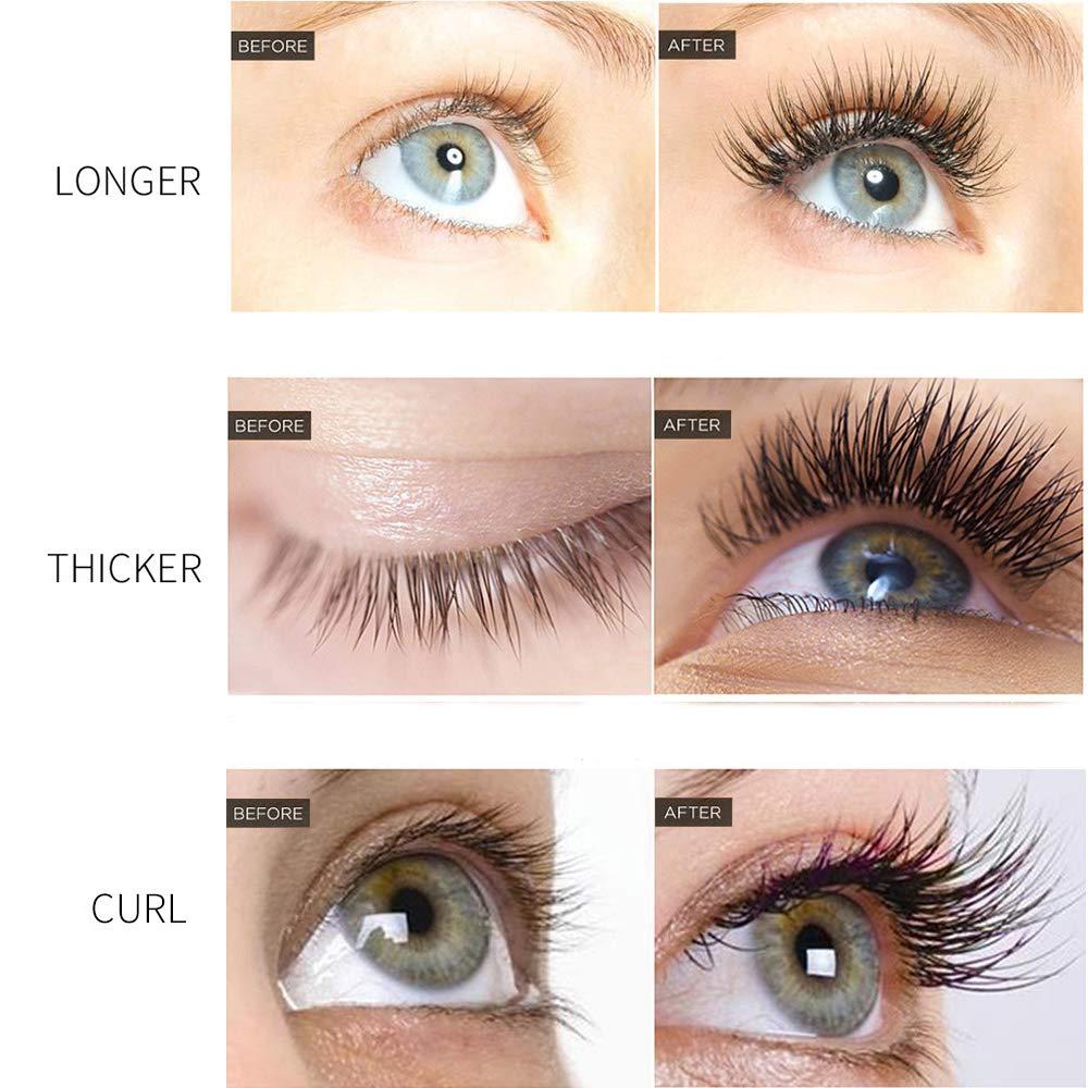 Eyelash Growth Serum, Natural Eyebrow Enhancer, QIBEST Brow & Lash Enhancing Formula for Longer, Thicker Eyelashes and Eyebrows