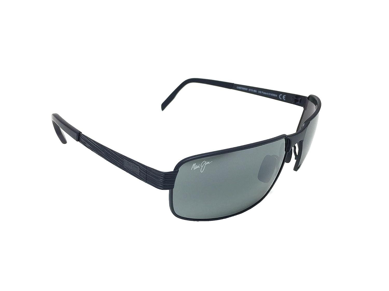 33ed6ec0ab New Maui Jim Castaway 187-02M Gunmetal Black  Neutral Grey Polarized  Sunglasses well-