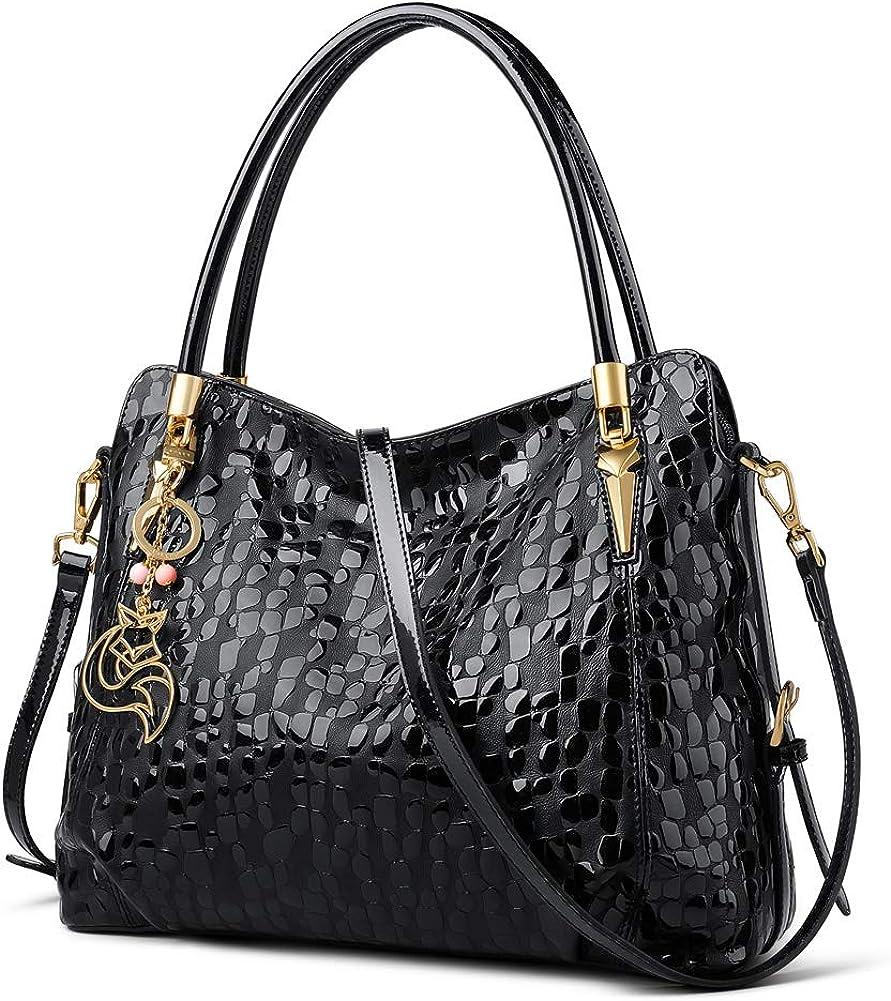 FOXER Cowhide Leather Purse And Handbags for Women Top-handle Tote Purse Women s Shoulder Bags Designer Satchel Bags