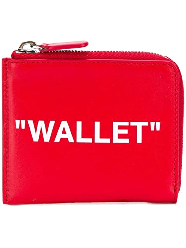 competitive price aa442 385c0 Amazon | 【off-white(オフホワイト)】QUOTE ZIP WALLET レッド ...