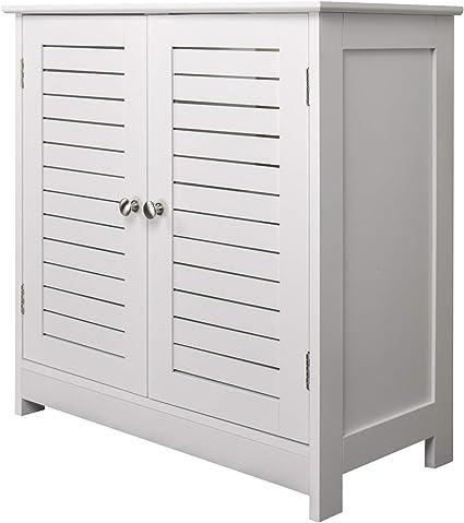 60 x 30 x 60 cm armario bajo lavabo blanco con doble puerta Mueble para ba/ño bajo lavabo armario armario bajo lavabo mueble para el ba/ño