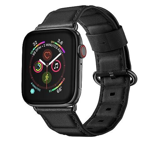 Strap Reloj para Hombre Cuero Brazalete de Suave Correa Manera Wristbands de Elegante Bandas Watch de Versión Juvenil Cadena 40mm: Amazon.es: Relojes