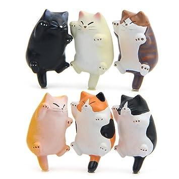 Imanes para nevera de gato, diseño de gato, ideal para pizarra, nevera, mapa, notas, calendario, regalo para amantes de los gatos: Amazon.es: Oficina y ...