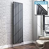 iBathUK | 1600 x 480 Vertical Column Designer Radiator Anthracite Single Flat Panel