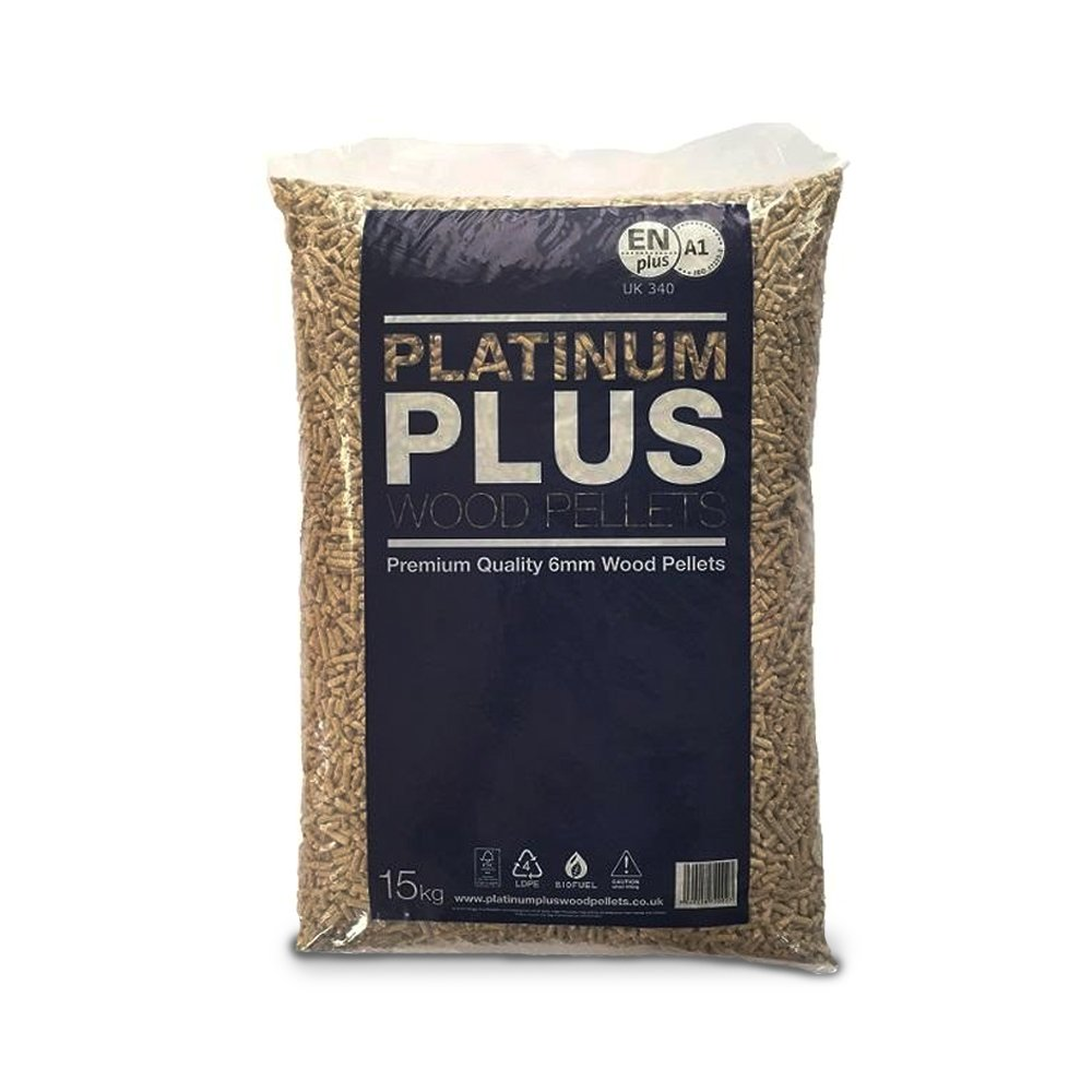 Premium CO2 Neutral Low Moisture Heat & Fuel Wood Pellets for Heating - 15Kg - Comes with THE LOG HUT® White Woven Sack! The Chemical Hut