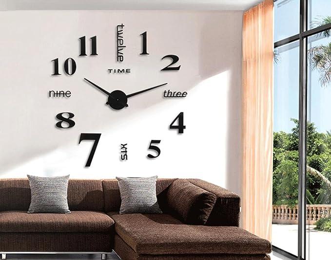 Cunclock La simplicidad del super moderno arte creativo del reloj reloj digital bricolaje Watch,negro: Amazon.es: Hogar