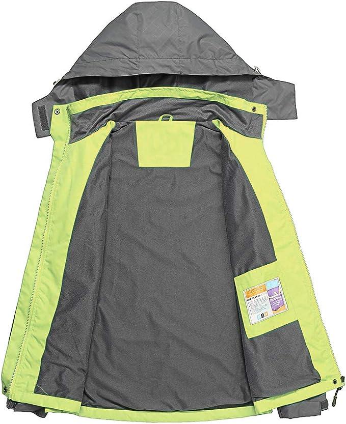 JOGERBRO Womens Rain Jacket with Hood Outdoor Waterproof Raincoat for Hiking