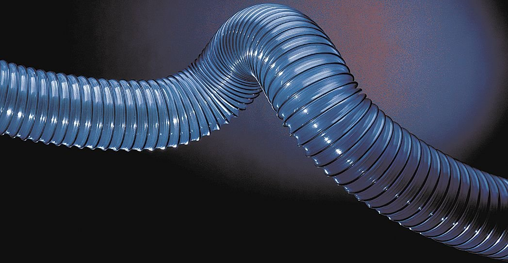 3 Inside Diameter 25 Feet Length Blue Industrial Ducting Hose PVC