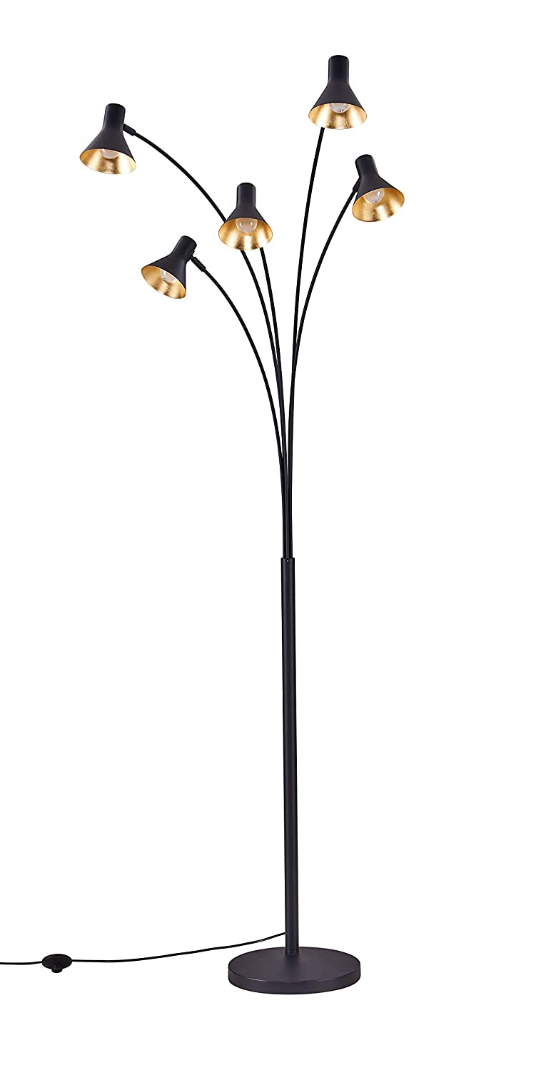 Archiology Wall Lamp Sconce Spotlight Steel Cone for Living Room Display or Outdoor Home Patio Deck Lighting with Black Gold Shade AL-00005